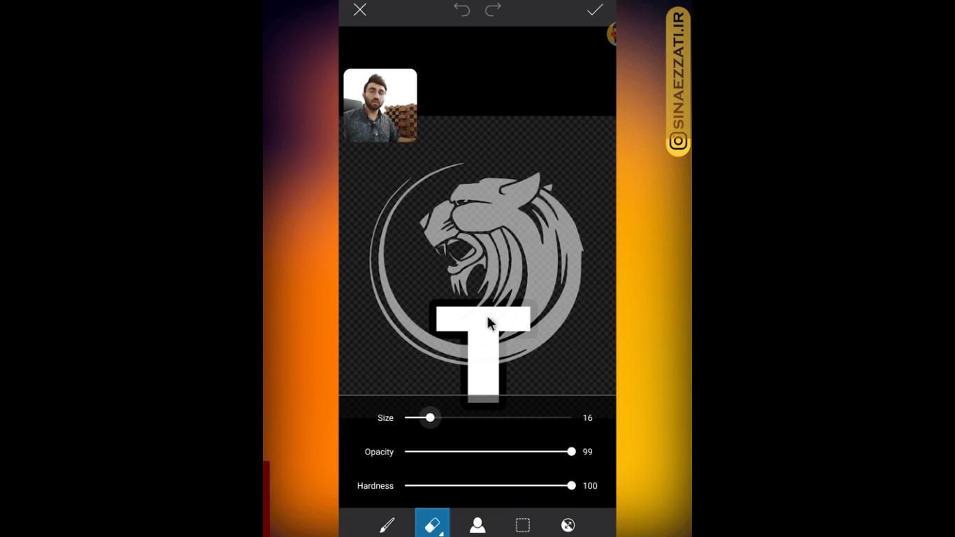 طراحی لوگو با گوشی