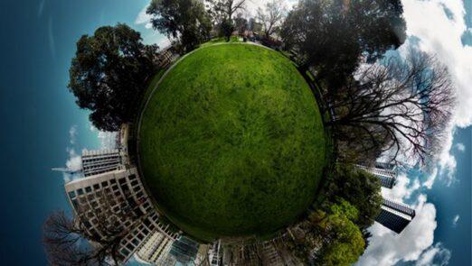تبدیل تصاویر به زمین گرد