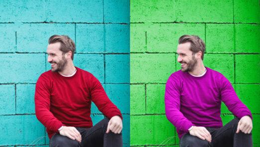 تغییر رنگ قسمتی از عکس با پیکسارت